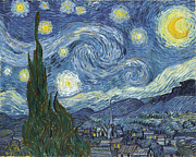 Starry Night Prints - Starry Night Print by Vincent Van Gogh