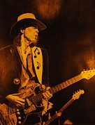 Texas Drawings - Stevie Ray Vaughan 1984 by Charles Rogers