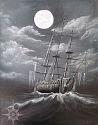 Pirate Ship Paintings - Storm Corrosion by Christine Cholowsky