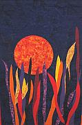 Grass Tapestries - Textiles - Sunset Waltz by Maureen Wartski