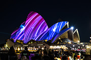 Vivid Festival Art - Sydney Opera House  by Sheila Smart