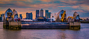 Canary Metal Prints - Thames Barrier Metal Print by Dawn OConnor