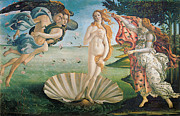 Love And Romance Framed Prints - The Birth of Venus Framed Print by Sandro Botticelli