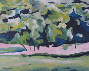 Francois Fournier Paintings - The Blue and Green Trees Quebec Canada by Francois Fournier