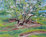 Paiting Posters - The Flowering Crab Apple Tree Poster by Francois Fournier