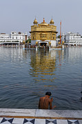 Bathe Posters - The Golden Temple at Amritsar India Poster by Robert Preston