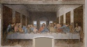 Last Supper Posters - The Last Supper Poster by Leonardo da Vinci