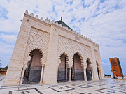 Rabat Prints - The Mausoleum of Mohammed V in Rabat Print by Karol Kozlowski