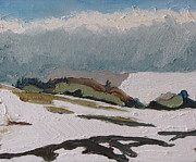 Francois Fournier Paintings - The white hills by Francois Fournier