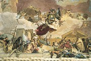 Pictures Of Horses Framed Prints - Tiepolo, Giovanni Battista 1696-1770 Framed Print by Everett