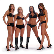 Female Models Body Posters - 4 Times the Attitude Poster by Jt PhotoDesign