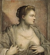 Portrait Of Woman Photo Framed Prints - Tintoretto, Jacopo Robusti, Called Il Framed Print by Everett