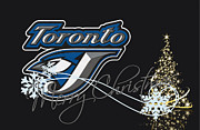 Baseball Bat Posters - Toronto Blue Jays Poster by Joe Hamilton