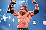 Wrestlemania Framed Prints - Triple H Framed Print by Wrestling Photos