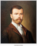 Duchess Painting Originals - Tsar Nicholas II of Russia by George Alexander