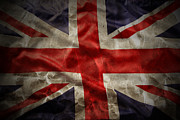 Old England Prints - Union Jack  Print by Les Cunliffe