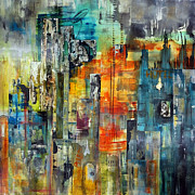 State Paintings - Urban View by Katie Black