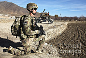 Logar Framed Prints - U.s. Army Sergeant Provides Security Framed Print by Stocktrek Images