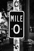 Mile Marker Prints - Us Route 1 Mile Marker 0 Start Of The Highway Key West Florida Usa Print by Joe Fox