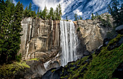 Cloudy Day Prints - Vernal Falls Print by Cat Connor