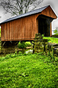 Wooden Structure Framed Prints - Walkersville Covered Bridge Framed Print by Thomas R Fletcher