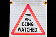 Big Brother Posters - Warning sign Poster by Tom Gowanlock
