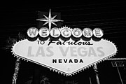 Las Vegas Sign Prints - welcome to fabulous Las Vegas sign Nevada USA Print by Joe Fox