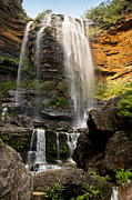 Tim Hester Prints - Wentworth Falls Blue Mountains Print by Tim Hester