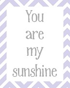 Kid Bedroom Digital Art - You Are My Sunshine by Jaime Friedman
