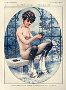 Grape Drawings Metal Prints - 1920s France La Vie Parisienne Metal Print by The Advertising Archives