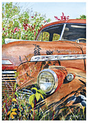 Fenders Painting Originals - 40 Chevy by Rick Mock