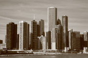 Waterway Birds Prints - Chicago Skyline Print by Frank Romeo