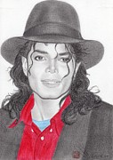 Greeting Cards Drawings - Michael Jackson by Eliza Lo
