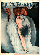 Beards Drawings Prints - 1920s France La Vie Parisienne Magazine Print by The Advertising Archives