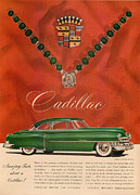 Old Auto Posters - 40s Cadillac Poster by Nomad Art And  Design
