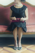 Black Dress Photos - 40s Lady by Joana Kruse