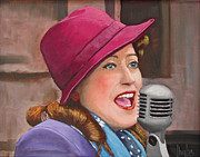 40s Paintings - 40s SINGER by Kevin Hughes