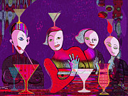 Crazy Prints - 41 - the girls of   Crazy Bar   Print by Irmgard Schoendorf Welch