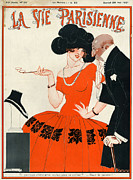 Jewellery Framed Prints - 1920s France La Vie Parisienne Magazine Framed Print by The Advertising Archives
