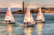 Vikings Prints - 420 Class Dinghy Race at Largs Print by Tylie Duff
