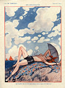 Naked Drawings Posters - 1920s France La Vie Parisienne Magazine Poster by The Advertising Archives
