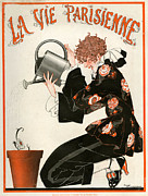 Cans Drawings - 1920s France La Vie Parisienne Magazine by The Advertising Archives