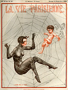 Spider Drawings Posters - 1920s France La Vie Parisienne Magazine Poster by The Advertising Archives