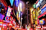 Night Cafe Digital Art Prints - 42nd Street Print by C Lythgoe