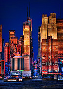 Nightscapes Prints - 42nd Street Print by Susan Candelario