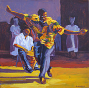 West Indies Paintings - Bele Dancing by Earl Darius Etienne