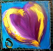 Harlow Painting Prints - Heart Print by Mark Kazav