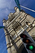 Traffic Lights Photos - Tower Bridge London by David Pyatt