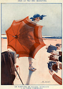 Photography Drawings Metal Prints - 1920s France La Vie Parisienne Magazine Metal Print by The Advertising Archives