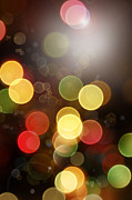 Bright Lights Prints - Abstract background Print by Les Cunliffe